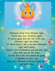 Meet the Glimmers Book page